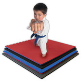 """Jumbo Reversible Soft Floor - 1m x 1m x 7/8"""" with three attached Borders - Quantity 10 1"""