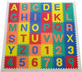 Alphabet Learning Mat White Border 1
