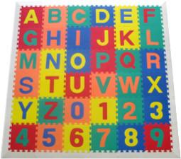 Alphabet Learning Mat White Border 1
