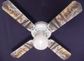 "Deer Buck Doe Hunting Ceiling Fan 42"" 1"
