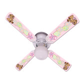 "Baby Nursery Toys Blocks Pink Ceiling Fan 42"" 1"