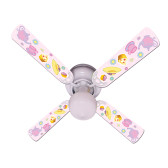 "Girls Pink Tea Time Party Ceiling Fan 42"" 1"