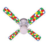 "Kids Light Bright Dots Ceiling Fan 42"" 1"