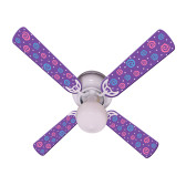"Kids Purple Party Pops Ceiling Fan 42"" 1"