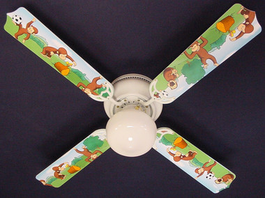 "Curious George Monkey Ceiling Fan 42"" 1"