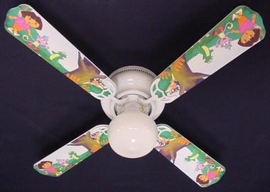 """Dora The Explorer & Boots Ceiling Fan 42"""" 1"""