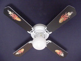 "Flaming Footballs Ceiling Fan 42"" 1"