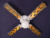"Flames Ceiling Fan 42"" 1"