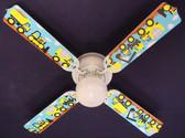 "Mighty Tonka Construction Trucks Ceiling Fan 42"" 1"