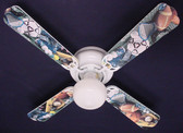 "Soccer Football Baseball Sports Ceiling Fan 42"" 1"
