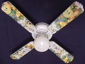 "Zootles Baby Animals Jungle Ceiling Fan 42"" 1"