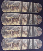 "Deer Buck Doe Hunting Ceiling Fan 42"" Blades Only 1"