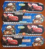 "Cars Lightning Mcqueen Mater Ceiling Fan 42"" Blades Only 1"
