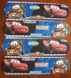 """Cars Lightning Mcqueen Mater Ceiling Fan 42"""" Blades Only 1"""