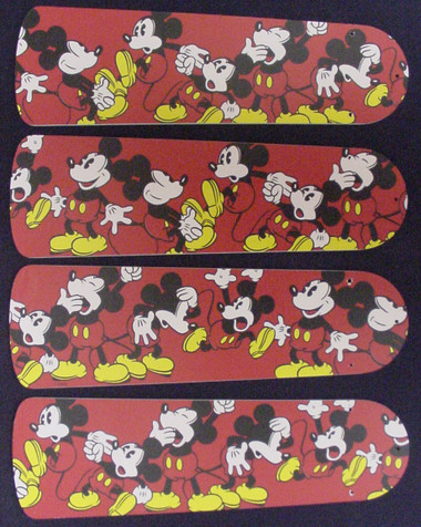 "Disney Mickey Mouse #1 Ceiling Fan 42"" Blades Only 1"