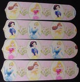 "Disney Princesses -Dancing Ceiling Fan 42"" Blades Only 1"