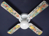 "Construction Dump Trucks Ceiling Fan 42"" Blades Only 1"