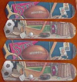 """Classic Sports Ceiling Fan 42"""" Blades Only 1"""