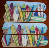 "Hawaiian Surfboards Ceiling Fan 42"" Blades Only 1"