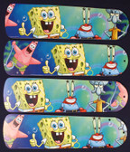 "Sponge Bob Square Pants Ceiling Fan 42"" Blades Only 1"
