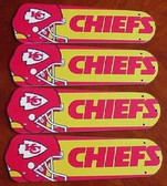 "NFL Kansas City Chiefs Ceiling Fan 42"" Blades Only 1"