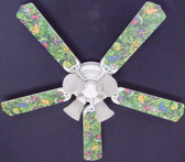 "Tropical Rainforest Frogs Frog Ceiling Fan 52"" 1"
