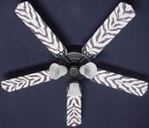 """African Safari Zebra Skin Ceiling Fan 52"""" 1"""