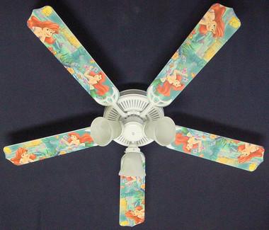 """Disney Little Mermaid Ariel Ceiling Fan 52"""" 1"""