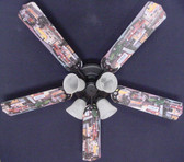 "Hot Rod Cars Burger Diner Ceiling Fan 52"" 1"