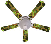 "Crazy Camo Ceiling Fan 52"" 1"