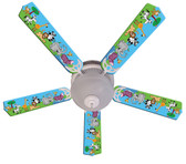 "Jungle Party Animals Ceiling Fan 52"" 1"