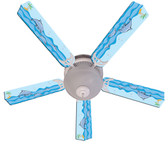 "Kids Playful Dolphins Ceiling Fan 52"" 1"