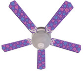 "Kids Purple Party Pops Ceiling Fan 52"" 1"