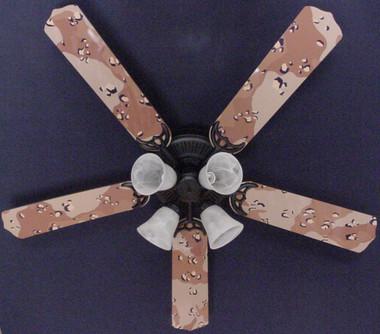 "Camoflauge Desert Ceiling Fan 52"" 1"