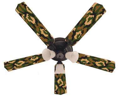"""Camoflauge Green Ceiling Fan 52"""""""