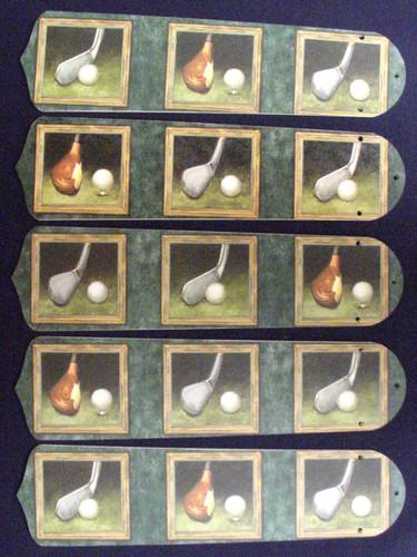 "Golf Clubs Golfers 52"" Ceiling Fan Blades Only 1"