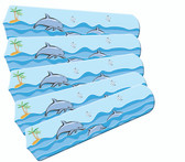 """Kids Playful Dolphins 52"""" Ceiling Fan Blades Only 1"""