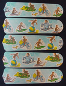 """Curious George Monkey 52"""" Ceiling Fan Blades Only 1"""