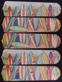 "Hawaiian Surfboards 52"" Ceiling Fan Blades Only 1"