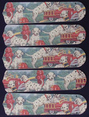 """Dalmations Fire Truck #1 52"""" Ceiling Fan Blades Only 1"""