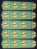 "NFL Minnesota Vikings Football 52"" Ceiling Fan Blades Only"