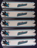 "NHL San Jose Sharks 52"" Ceiling Fan Blades Only 1"