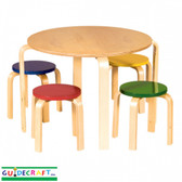 guidecraft nordic table u0026 chairs set color 1 - Kid Table And Chair Set