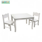 Guidecraft Classic White Table & Chairs Set 1