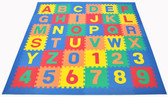 Alphabet Puzzle Activity Mat - Blue Border