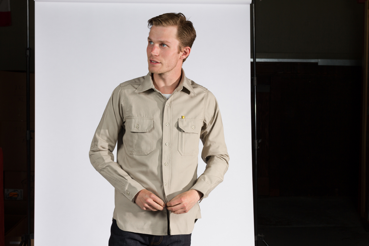 Khaki Clampdown Shirt