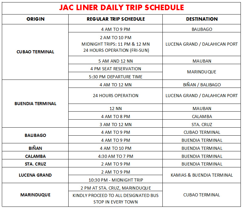 Jac Bus Phbus Online Booking