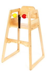 No Tray High Chair Natural Wood