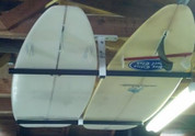 "Ceiling Surf Rack shown with Standard 20"" Surfboard Support Bars. Other Length Surfboard Support Bars Available."