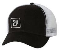 2P Trucker Hat (Black/White)